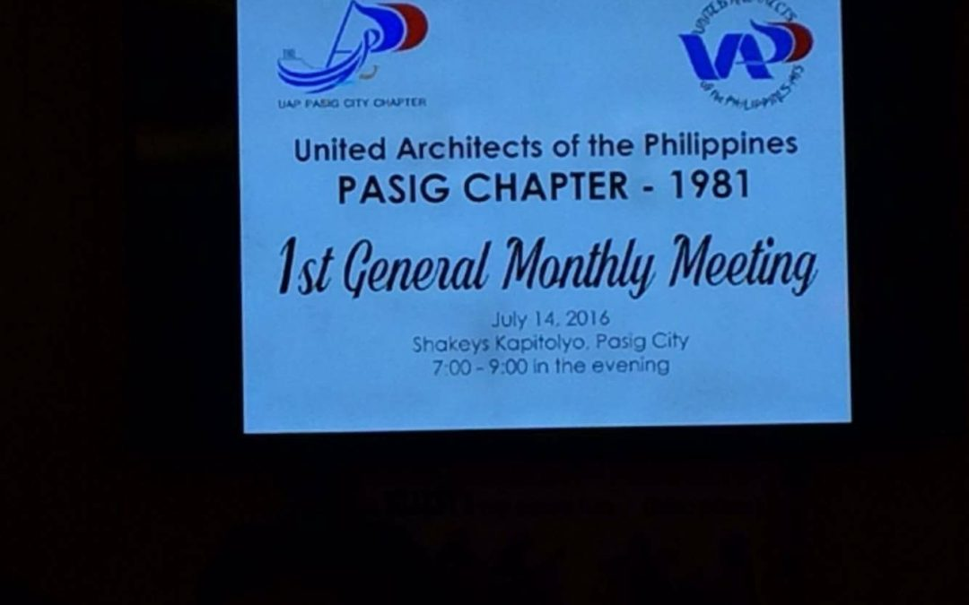 UAP Pasig Chapter | 1st General Meeting 2016 Sponsorship
