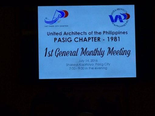 UAP Pasig Chapter | 1st General Meeting 2016 Sponsorship